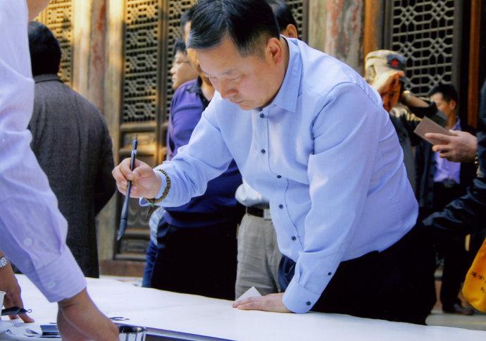 """国粹书法的王氏解读——《河南日报》关于县书协主席王好君""""中原新乡贤""""的报道"""
